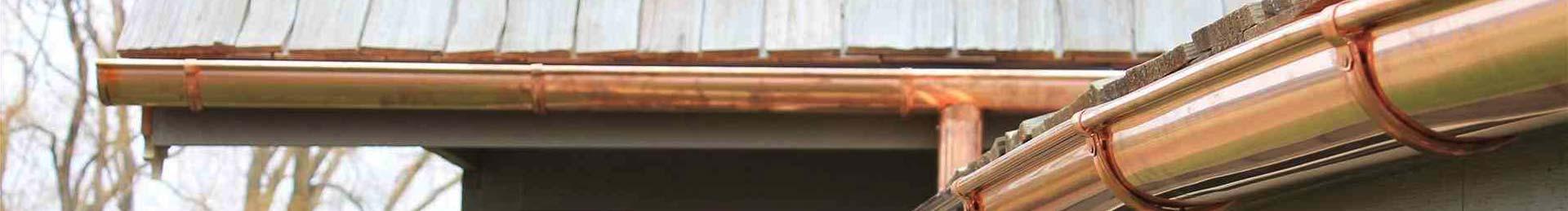 Canalones de cobre