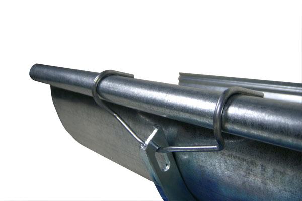 detalle de perfil de canalón galvanizado