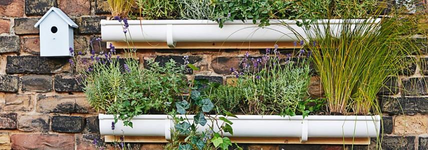 Cómo Hacer Un Jardín Vertical Con Canalones