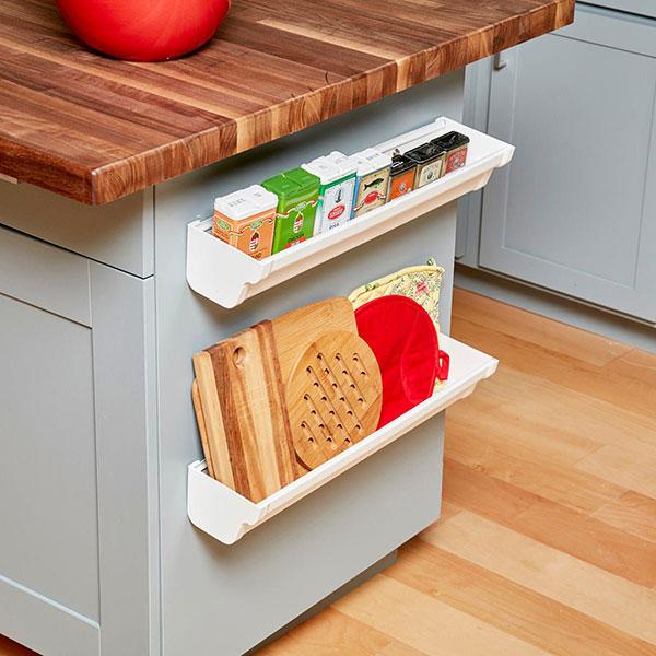 estantes de canalón para cocina