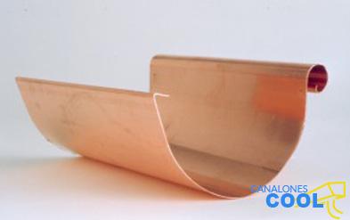 Canalones en Madrid de cobre