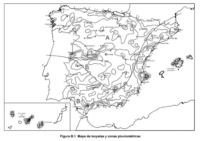 Mapa para calcular riesgos de las precipitaciones torrenciales