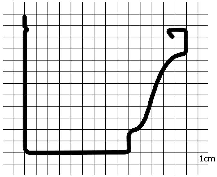 Diseño vectorial de una canalón cuadrado